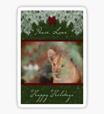 Cub's Safe Place for the Holidays Sticker