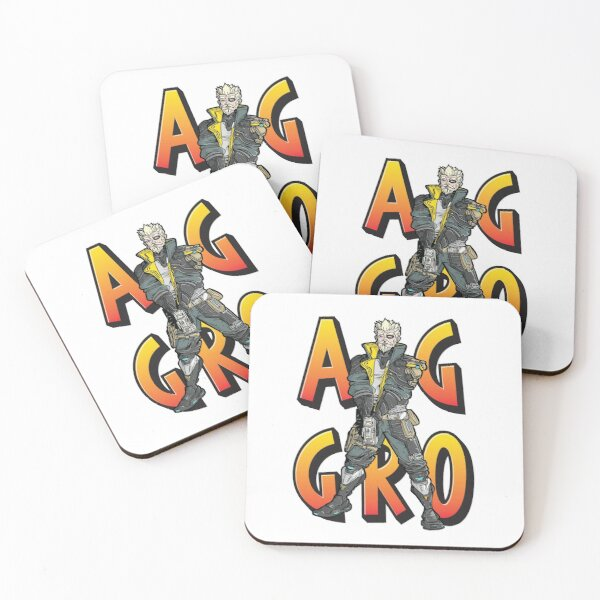 Zane The Operative Borderlands 3 Aggro Aggravation Aggressive Coasters (Set of 4)