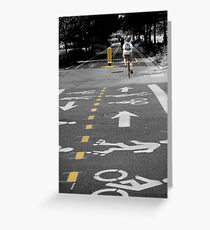Single Biker on the Road Greeting Card