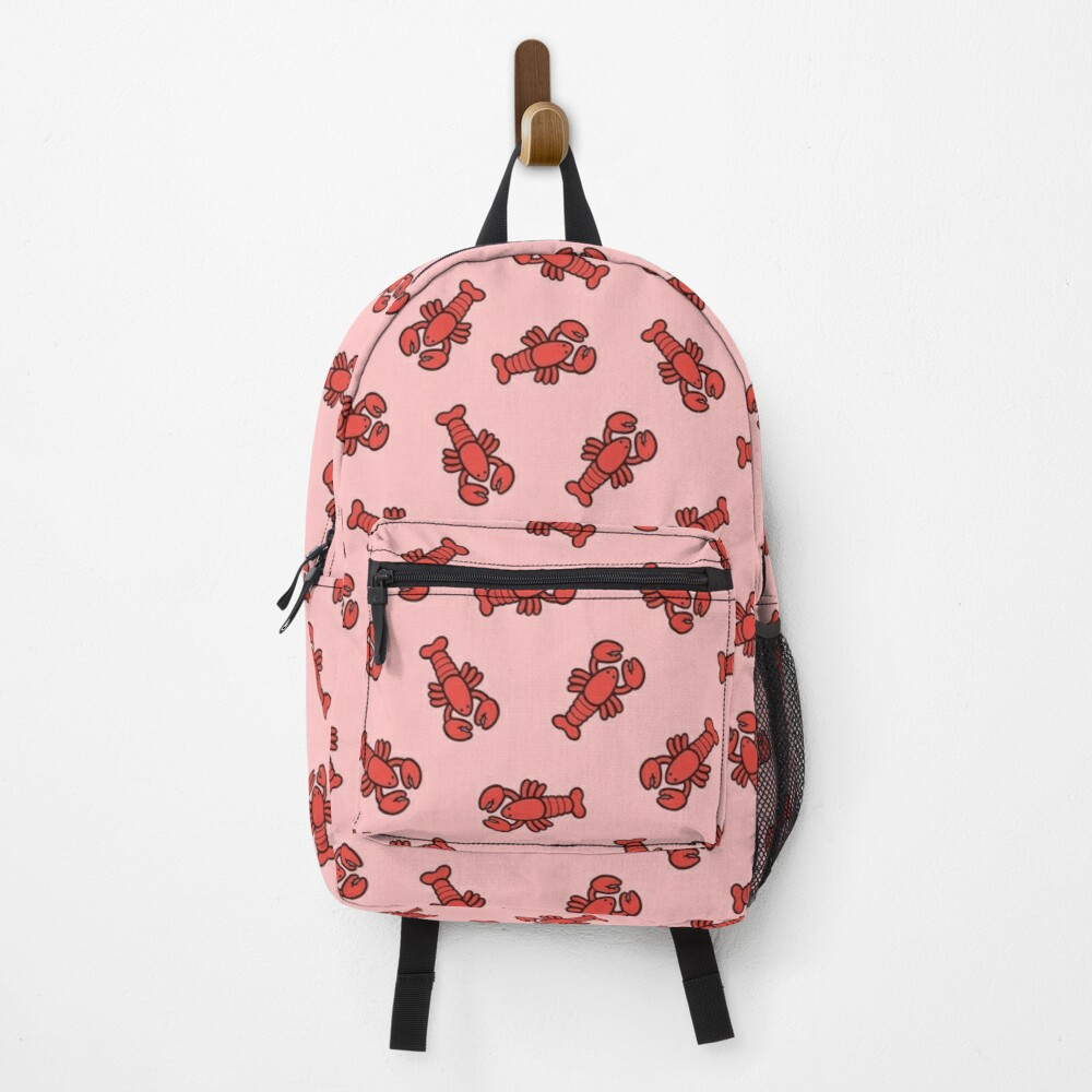 Lobsters Pattern on Light Pink Backpack