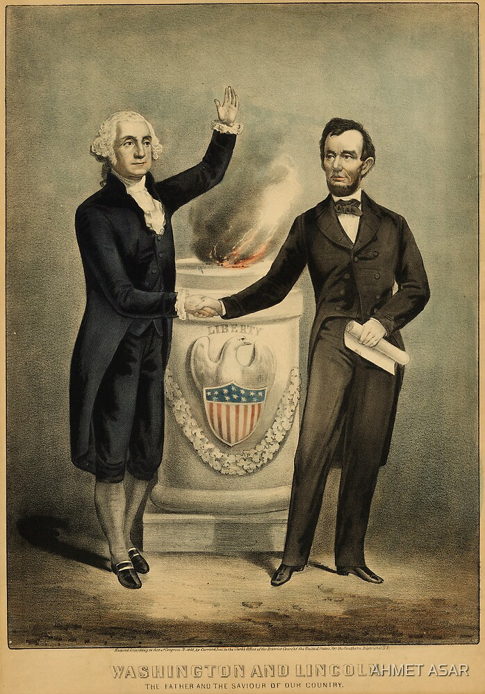 Currier & Ives portrait of Washington and Lincoln by MotionAge Media