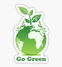 Go Green T-Shirt Sticker