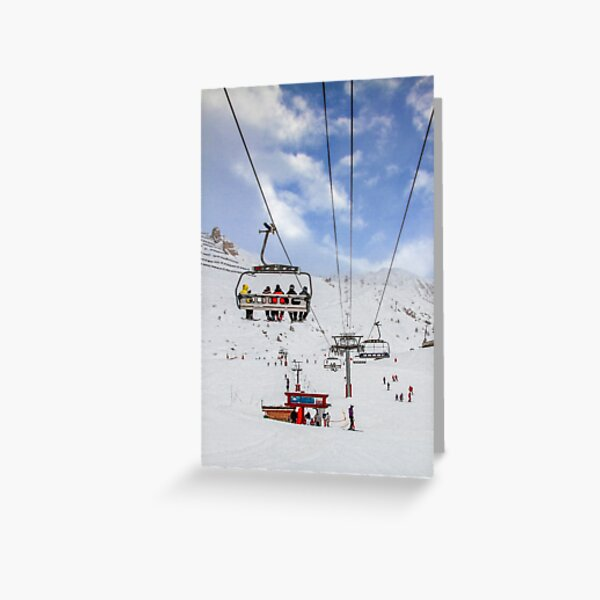 Ski Lift  Greeting Card