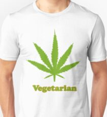 Vegetarian Pot Leaf T-Shirt T-Shirt