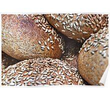 Crusty Seeded Fresh Bread Poster