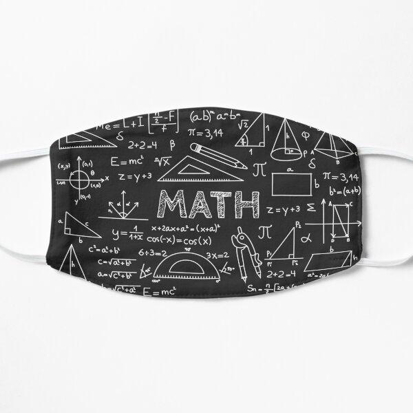 i love math funny math nerd cool  Flat Mask
