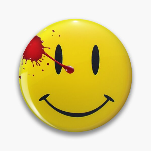 Watchmen Smiley Emoji logo Pin