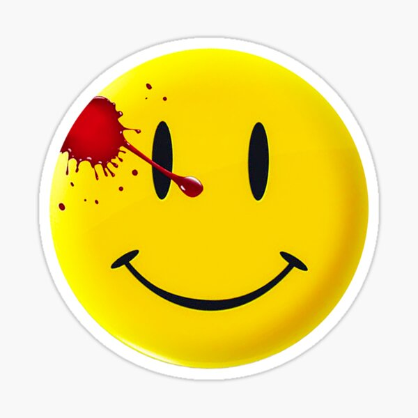 Watchmen Smiley Symbol Sticker
