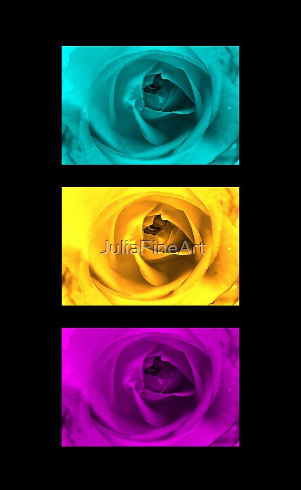 3 Roses by JuliaFineArt
