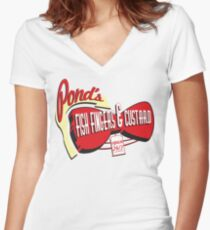 Fish Fingers & Custard Women's Fitted V-Neck T-Shirt