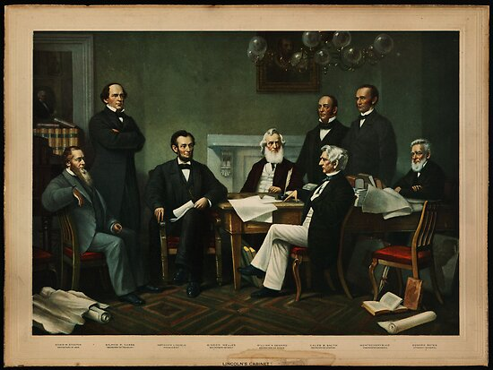Print of Lincoln's cabinet based on Carpenter painting by MotionAge Media