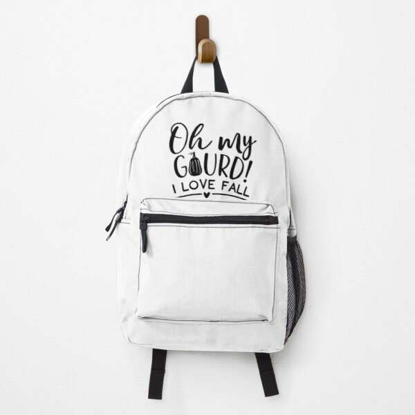 Oh my gourd I love fall funny pun Backpack