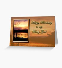 Birthday Baby Girl Pier Greeting Card