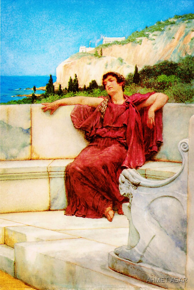 A Female Figure Resting Dolce far Niente by Sir Lawrence AlmaTadema by MotionAge Media