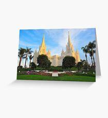 San Diego California Temple Greeting Card