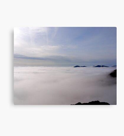 Pavey Ark above the mist Canvas Print