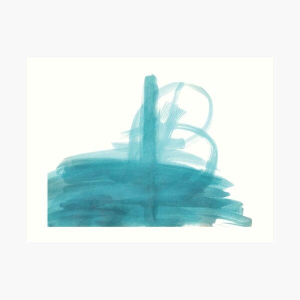 Submarine surfacing Art Print