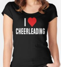 I Love Cheerleading Dark Women's Fitted Scoop T-Shirt