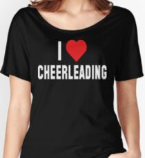 I Love Cheerleading Dark Women's Relaxed Fit T-Shirt