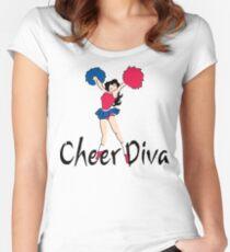 Cheer Diva Women's Fitted Scoop T-Shirt