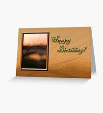 Birthday Grass Sunset Greeting Card