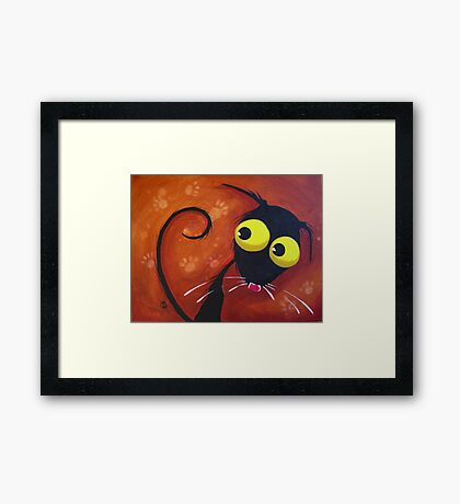 What paw prints? Framed Print