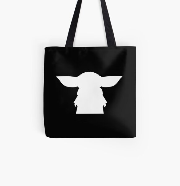Alien Silhouette All Over Print Tote Bag