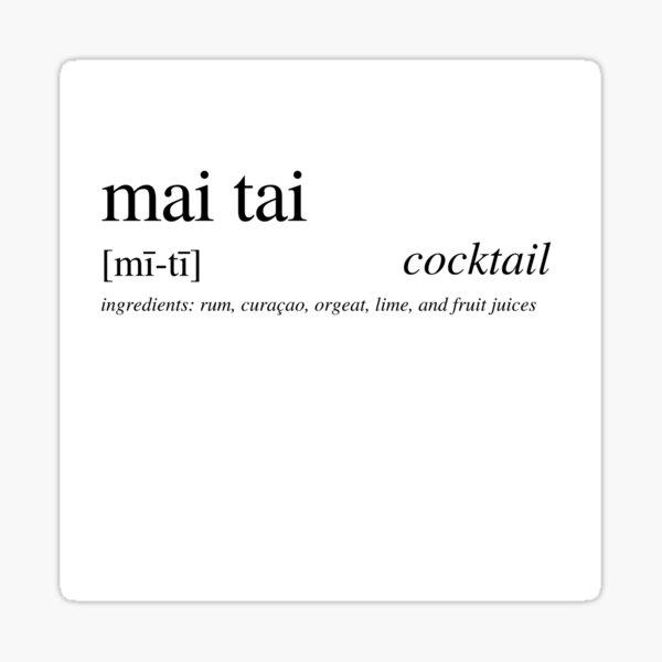 Mai Tai cocktail Sticker