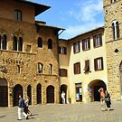 The Piazza In Volterra by Fara