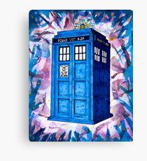 Tardis Splat - Doctor Who Canvas Print