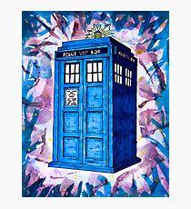 Tardis Splat - Doctor Who Photographic Print