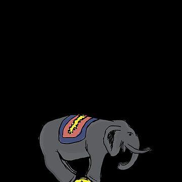 Circus Elephant by afreake