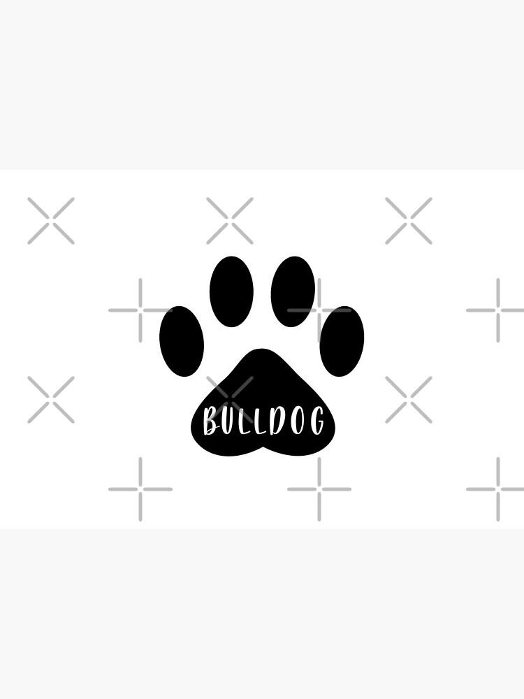Bulldog Paw Print Seal by chanzds