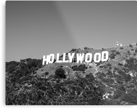 Hollywood sign in black and white by philw