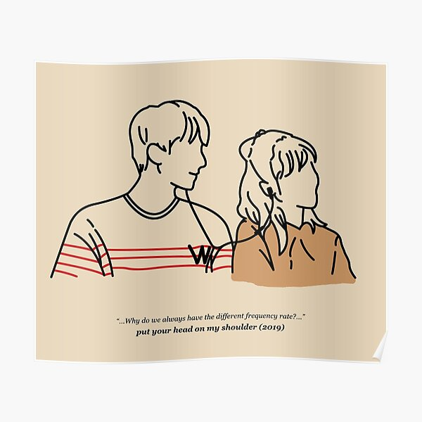Put Your Head On My Shoulder (Beige) Poster