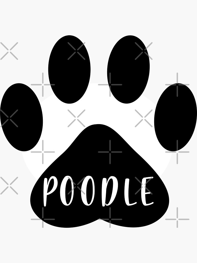 Poodle Paw Print Seal by chanzds