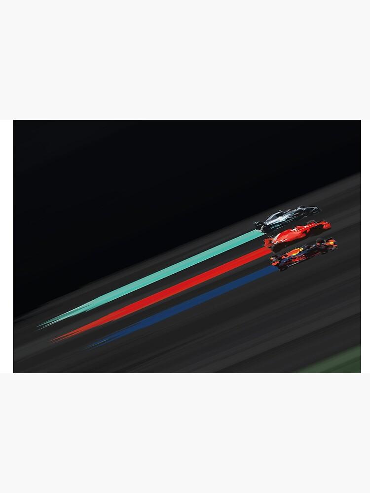 «F1 Art abstrait Bataille de l'ère hybride» par BRoebuck
