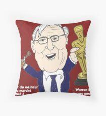 Oscar meilleur acteur Warren BUFFET caricature Throw Pillow
