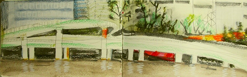 city motorway in the rain by donna malone