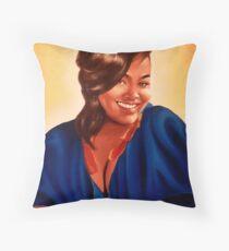 Beautifully Human - Portrait of Jill Scott Throw Pillow