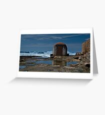 Newcastle Ocean Baths, The Pumphouse Greeting Card
