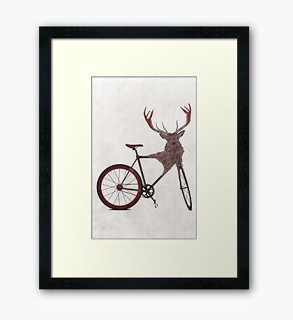 Stag Bike Framed Print