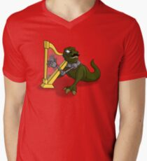Bertrum, the Gentleman T-Rex Men's V-Neck T-Shirt
