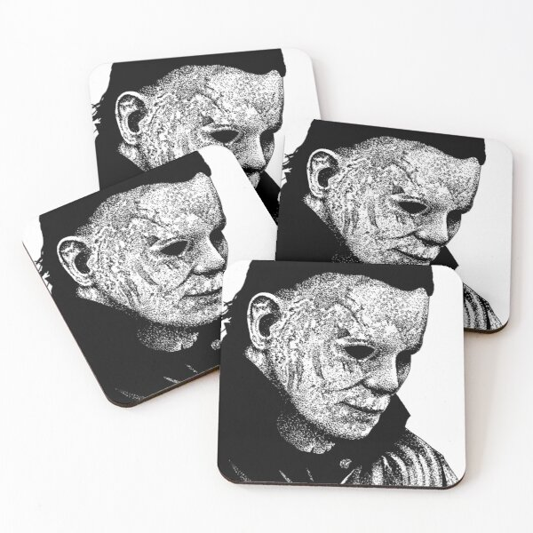 Halloween Micheal Myers Coasters (Set of 4)