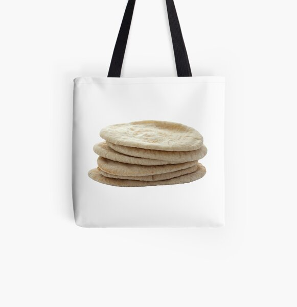 Pita Breads in a Pile All Over Print Tote Bag