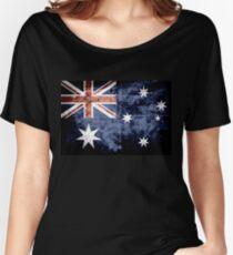 Grunge Australia Flag 3 Women's Relaxed Fit T-Shirt