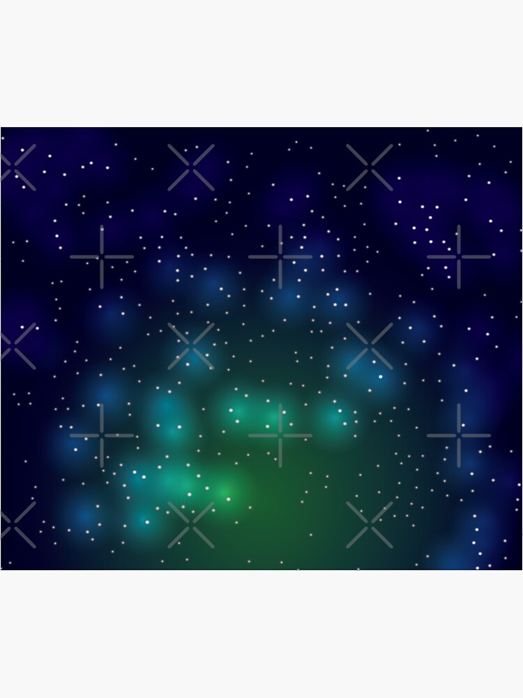 Green Glowing Galaxy Night Sky by chanzds