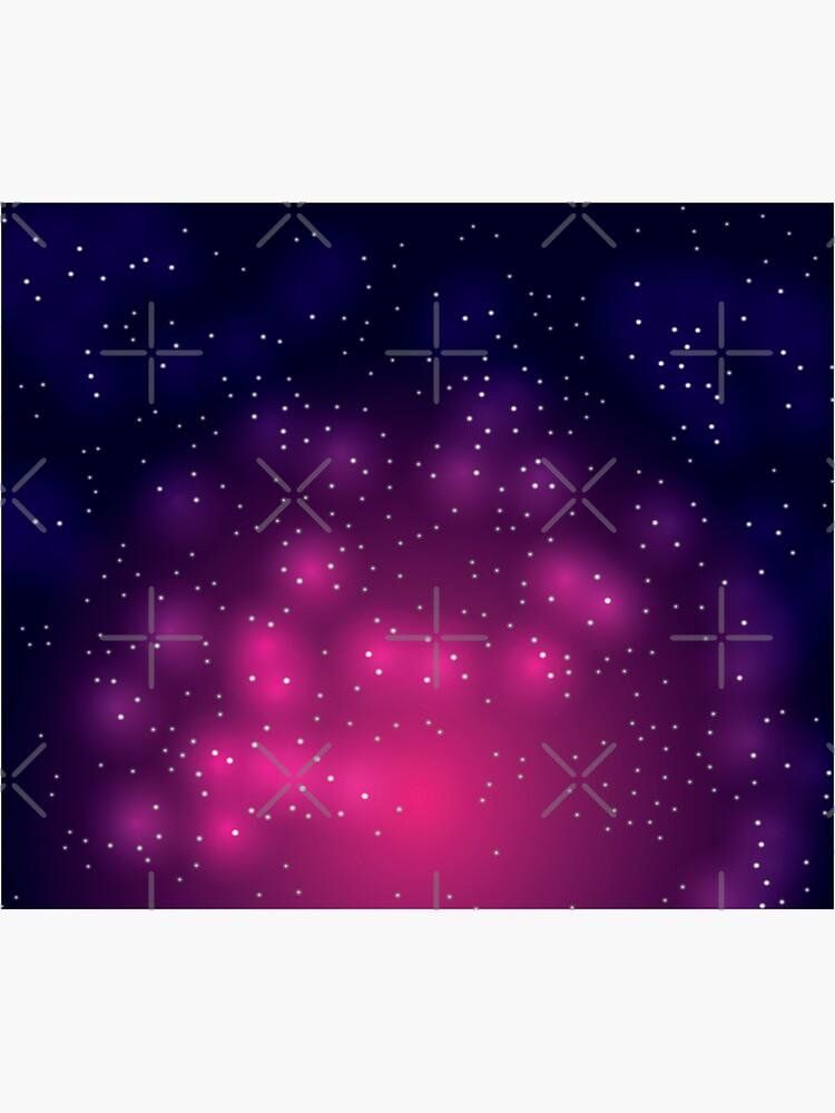Pink Glowing Galaxy Night Sky by chanzds