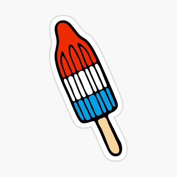 Rocket Popsicle Pattern Sticker