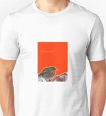 Chilly Winter Robin Unisex T-Shirt